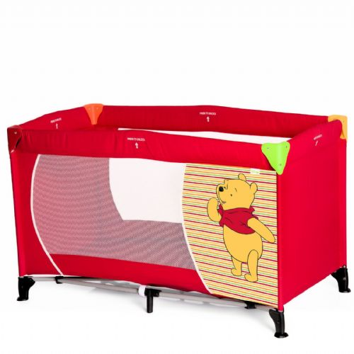 HAUCK DISNEY WINNIE THE POOH SPRING BRIGHT RED DREAM N PLAY TRAVEL COT PLAYPEN